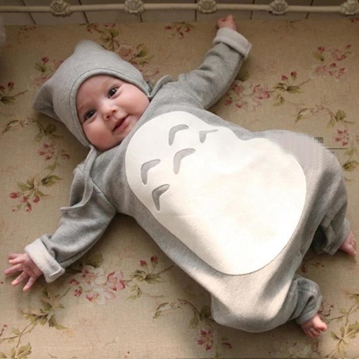 008c0a60ff803 Fille bébé garçon bébé Cartoon Totoro vêtements pour bébés Romper de ...