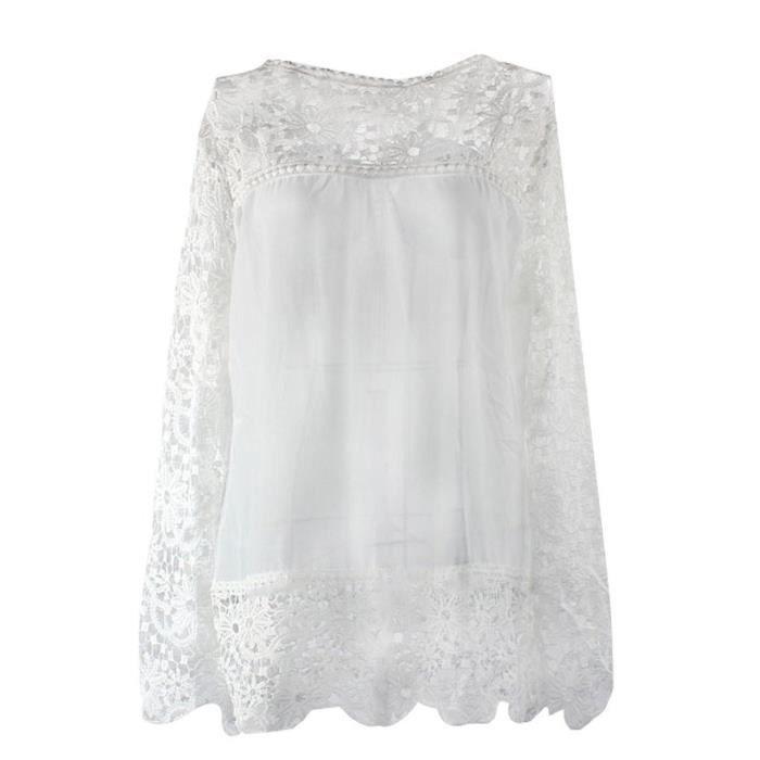 chemise blanche femme manche longue achat vente pas cher. Black Bedroom Furniture Sets. Home Design Ideas