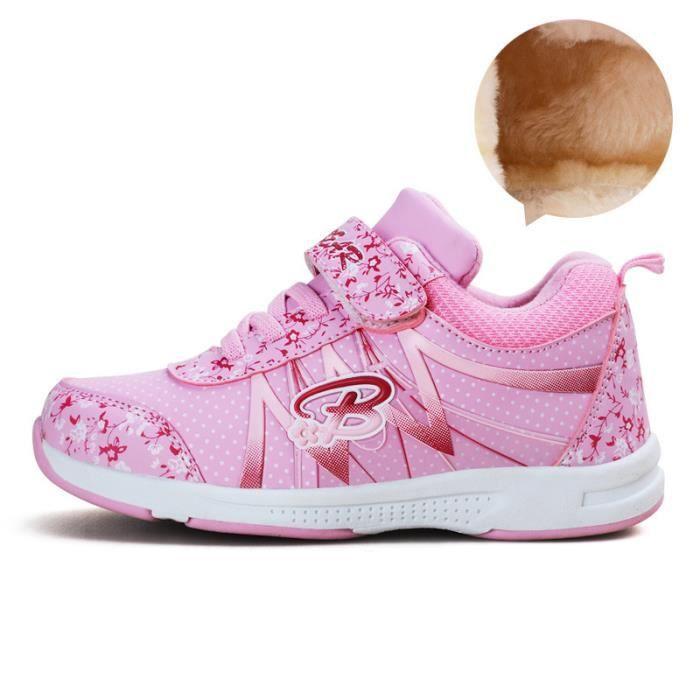 Basket Enfant hiver Sport Plus cachemire Ultra léger Chaussure BCHT-XZ211Rose30-1 DiPje