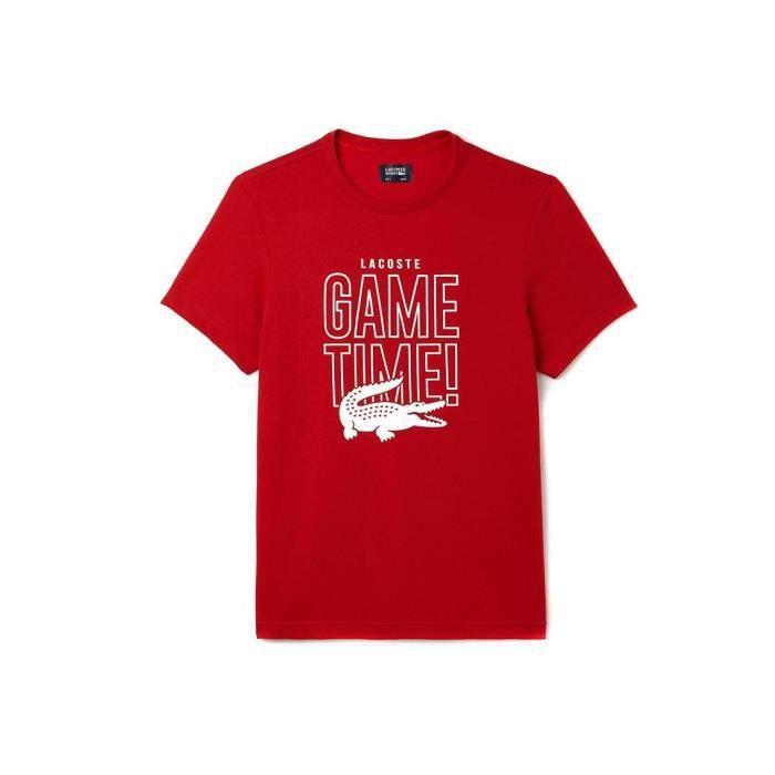 2c0066c9abb76 T-Shirt Lacoste Sport TH9473 Rouge Rouge Rouge - Achat   Vente t ...