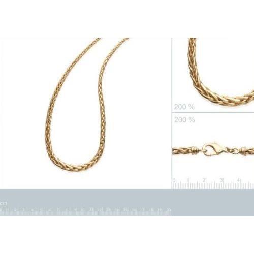 Collier Maille Palmier-Plaqué or 18 carats-Garanti 10 ans-Femme