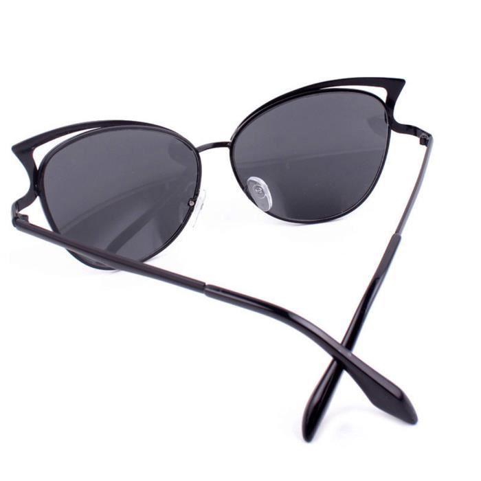 de mode Classic doreille soleil en noir de de Tone lunettes de marque métal de femmes de chat la trame de de Lunettes soleil fw4qRctEf