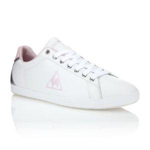 ab5b074748f0 LE COQ SPORTIF Baskets Cuir Auteuil Femme Blanc et rose - Achat ...