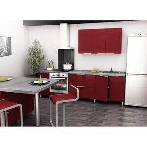 CUISINE COMPLÈTE Cuisine Type 2M60 - 260cm - Rouge - Cuisine complè