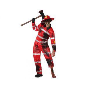 DÉGUISEMENT - PANOPLIE Déguisement pompier zombie homme