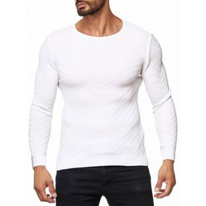 PULL Pull slim léger blanc pour homme
