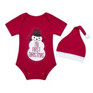 BODY Barboteuse bébé Fille Noël - Body bébé manches cou