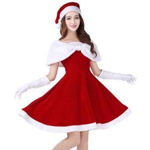 f1178dde9d4 DÉGUISEMENT - PANOPLIE EOZY Déguisement Mère Noël Femme Costume Robe + Ch