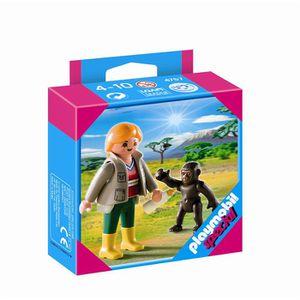 UNIVERS MINIATURE Playmobil Soigneur Avec Bébé Gorille