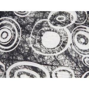 Deco de table jetable noir et blanc achat vente deco - Deco de table noir et blanc pas cher ...
