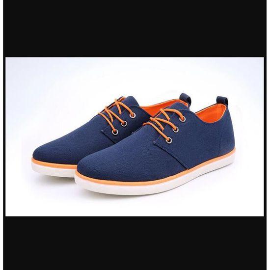 Nouvelle Arrivée Printemps Été Confortable Casual Chaussures Hommes Toile Pour à Lacets Mode   bleu - Achat / Vente basket