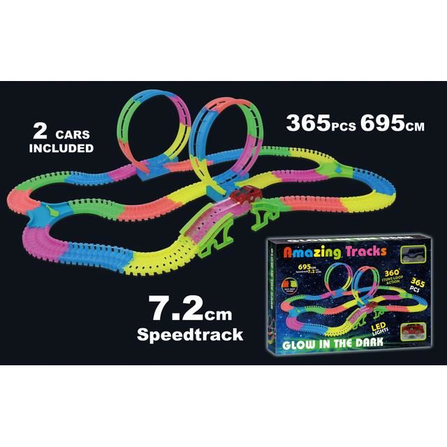 AMAZING TRACKS - Circuit voiture de 365 pièces - Brille dans le noir
