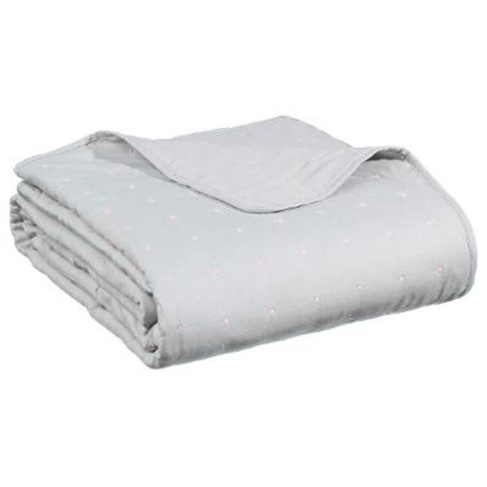 dessus de lit boutis gris achat vente dessus de lit boutis gris pas cher soldes d s le 10. Black Bedroom Furniture Sets. Home Design Ideas