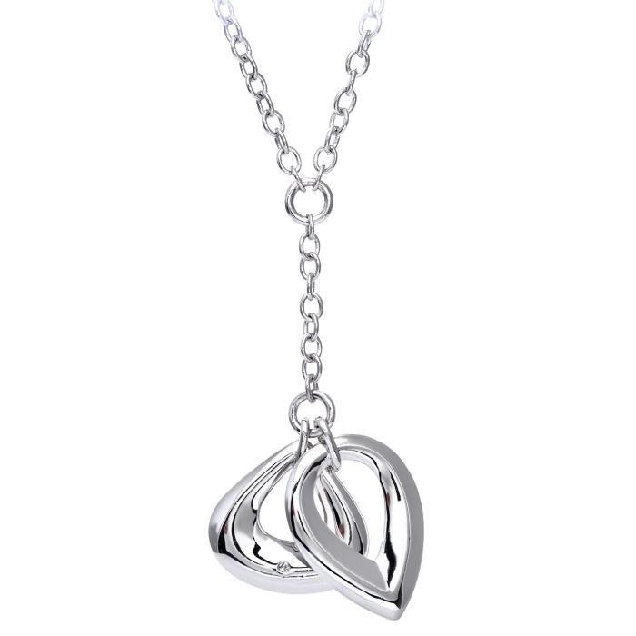 Collier - Femme - Argent 925-1000 - 10.5 Gr - Diamant 0.005 Cts ZKNVN