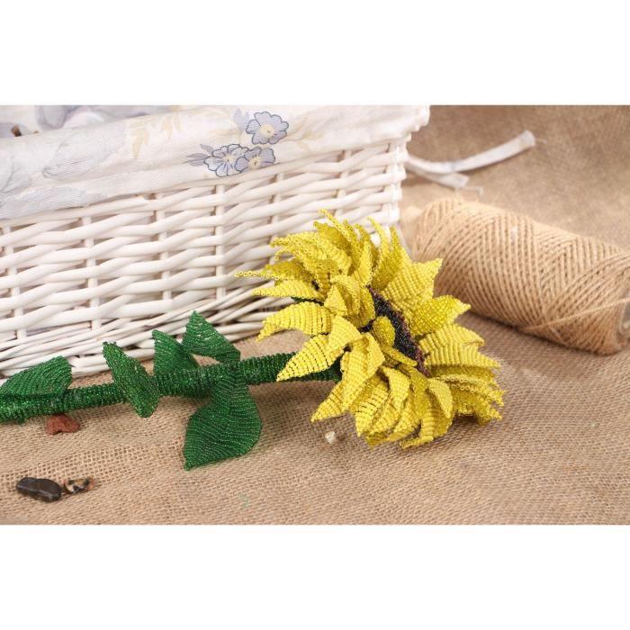 fleur d corative artificielle artisanale tournesol faite main achat vente fleur artificielle. Black Bedroom Furniture Sets. Home Design Ideas
