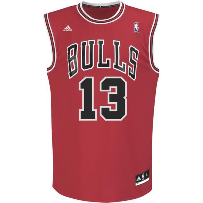 61aa67e0a8966 Maillot Chicago Bulls Adidas J.N... Rouge Rouge - Achat   Vente t ...