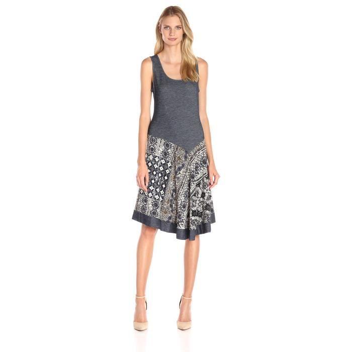 Msk Denim femme pour imprimer une robe en tricot asymétrique B4NJ3