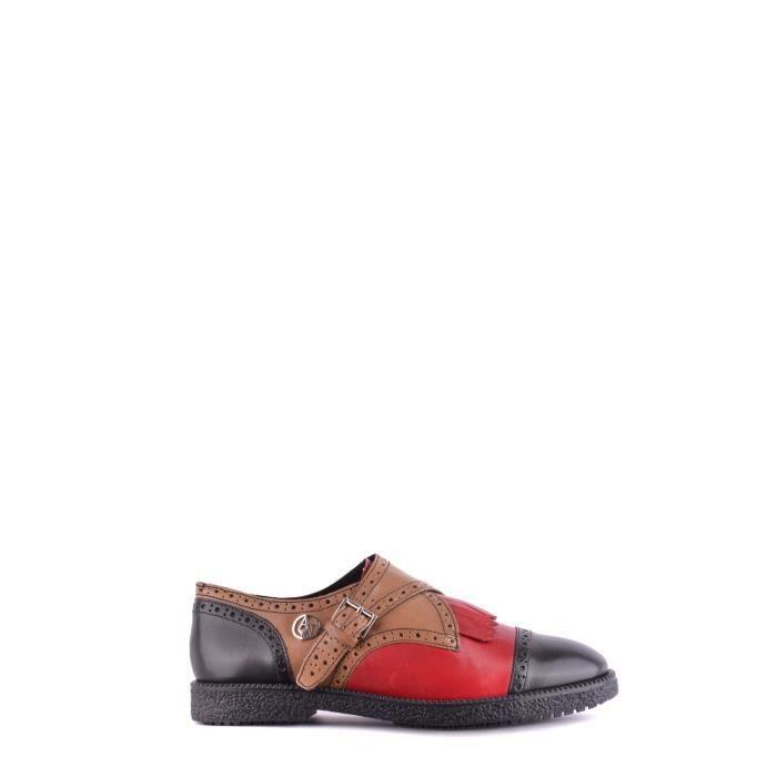 Lacets Homme Chaussures Mcbi024191o À Armani Cuir Multicolore Jeans AjL534R