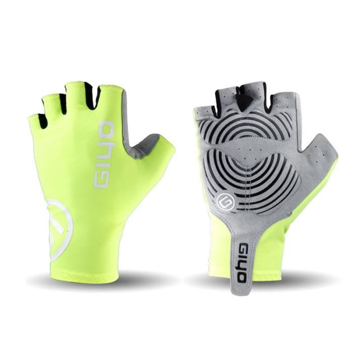 Breaking Wind Bikes - doigt gloves Anti-slip course de vélo bicycle MTb gloves Fluorescent yellow