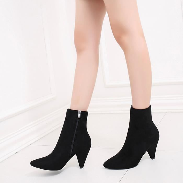 femmes Shallow Buckle Slip Bout Talon Zareste Bas On Chaussures Rond noir Square d5qtHwU