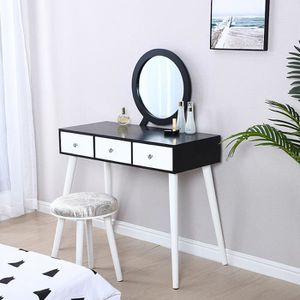 COIFFEUSE Royalbell® Coiffeuse scandinave + tabouret - 1 mir