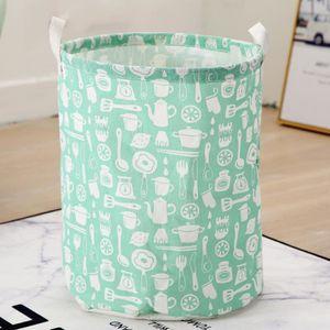 panier a linge vert achat vente pas cher. Black Bedroom Furniture Sets. Home Design Ideas