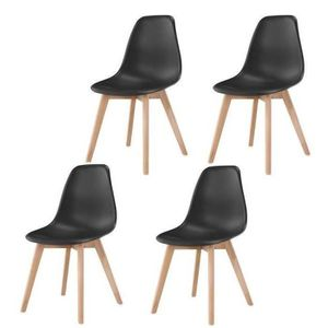 CHAISE Lot de 4 chaises de salle à manger Stockholm Noir