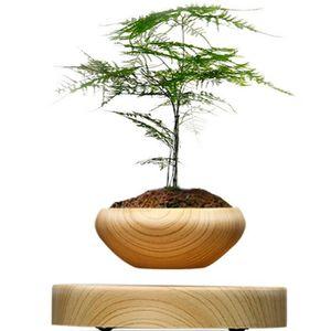 le pot en bois suspendu en c ramique de plante en pot rond led l vitant le pot d 39 usine d 39 air d. Black Bedroom Furniture Sets. Home Design Ideas