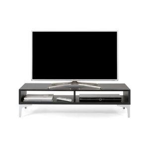 MEUBLE TV MURAL Mobilifiver Meuble Télé, Deep, Frêne noir, 112 x 4