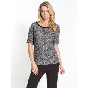 PULL Pull bicolore, manches courtes