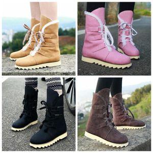 Bottes et boots Bottes de neige Femme Bottes courtes Chaussures pour L'hiver a augmenté dans la hauteur Chaussures à semelle Raquettes à neige ( Couleur : Noir , taille : 37 )