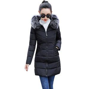c77ef5510362 MANTEAU - CABAN Les femmes d hiver manteau chaud en fausse fourrur ...