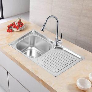 evier de cuisine vier lavabo de cuisine vier poser en acier in - Evier De Cuisine A Poser