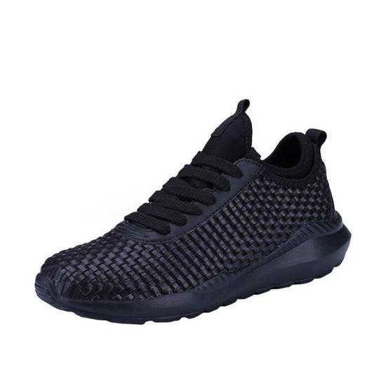 Casual Chaussures Hommes Respirant Confortable De Sport Couple Noir Tissés dexrBoC