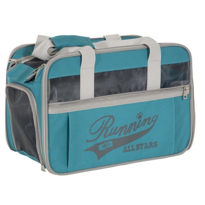 VADIGRAN Sac de transport Running - 40x28x25cm - Bleu - Pour chien