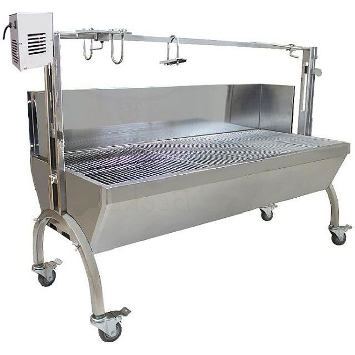 bbq grill pro inox pare vent broche 70 kg m choui cochon de lait achat vente barbecue bbq. Black Bedroom Furniture Sets. Home Design Ideas