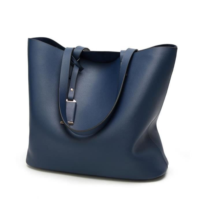 sac à main Femmes Sac Bucket solides Big de grande capacité Sacs Top-poignée Herald Mode Nouveautés-2556