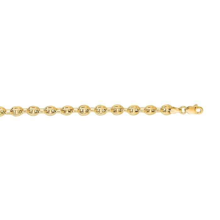 5,2 mm 14 carats Fleur Mariner-Bracelet chaine 7 Motif