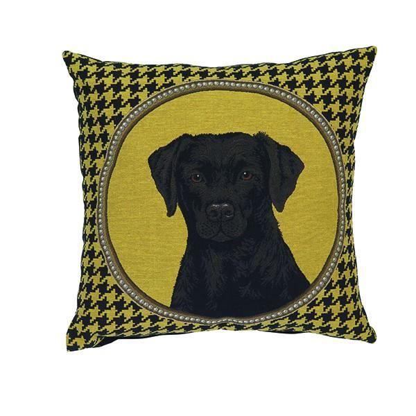 coussin t te de chien labrador jaune 45 x 45 cm achat vente coussin cdiscount. Black Bedroom Furniture Sets. Home Design Ideas