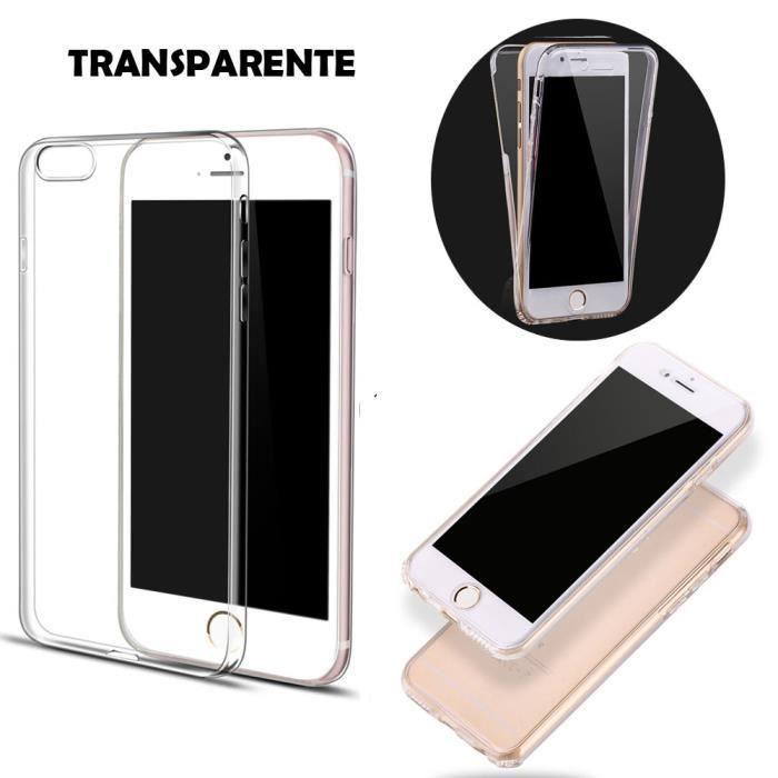 coque iphone 8 double face en silicone