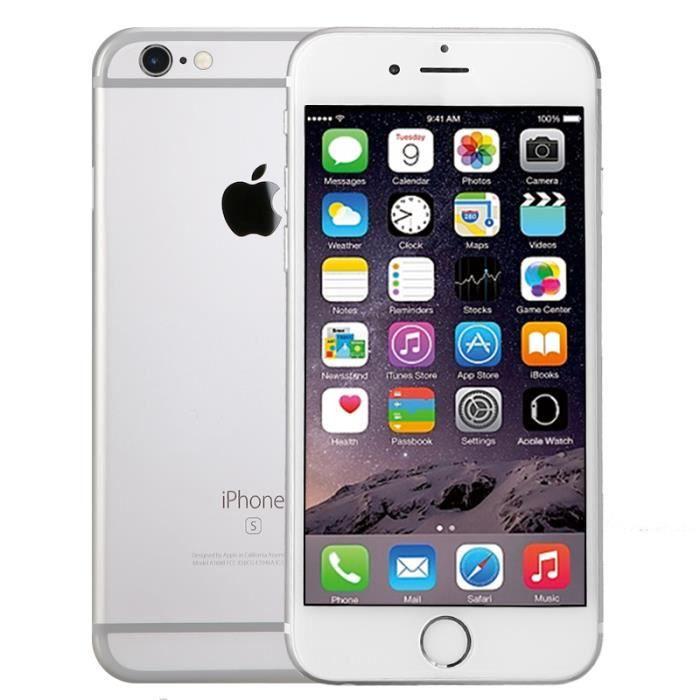c1bae17361a123 APPLE iPhone 6S 32Go 2G Smartphone Reconditionné 99% à Neuf Débloqué  (Argent)
