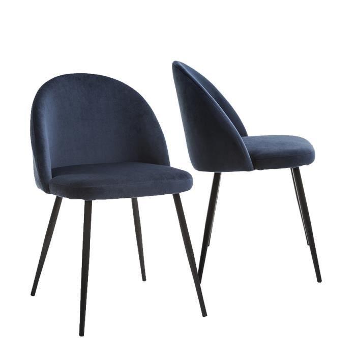72b1585bbec99a Lot de 2 chaises tissu - Achat   Vente pas cher