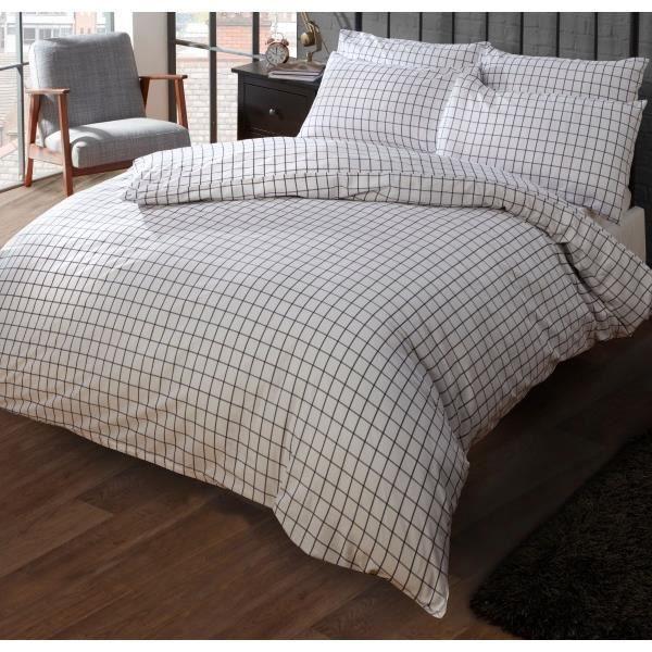 housse de couette carreaux achat vente housse de. Black Bedroom Furniture Sets. Home Design Ideas