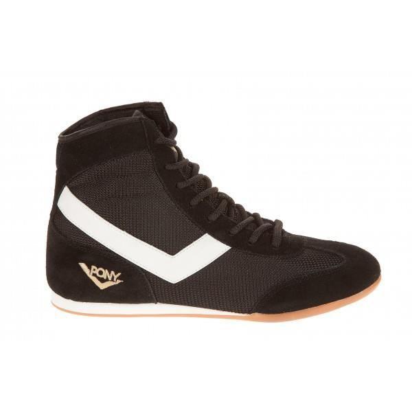 Basket basse boxe Pony - Noir Bl... Noir Noir - Achat   Vente basket ... 21e6eecfe30