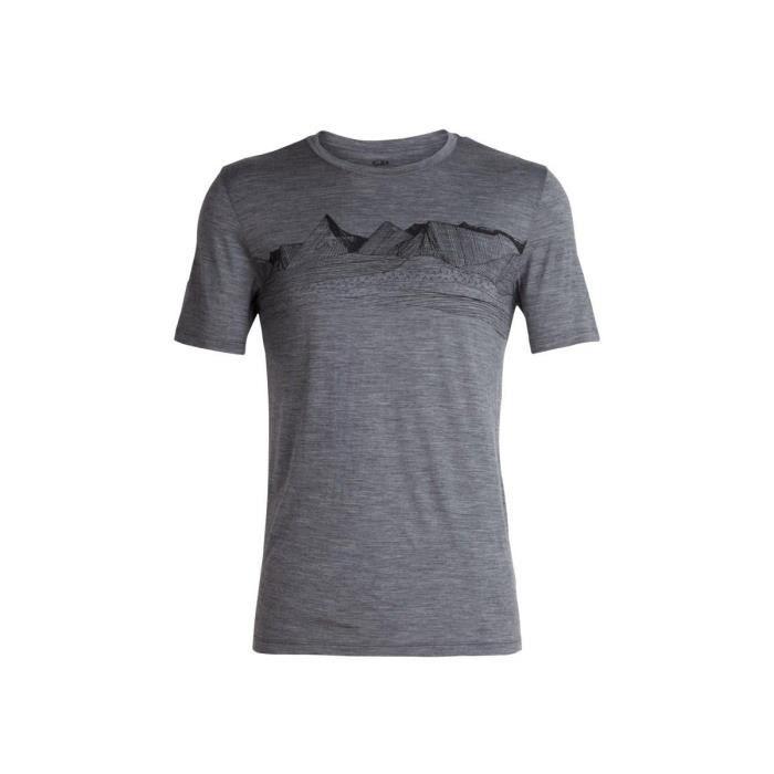 68edaa35bd Icebreaker - M Tech Lite Ss Crewe Pyrenees - Tee-shirts Outdoor/Randonnée  Homme