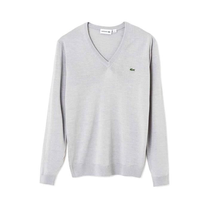 6b0398ad34a Pull Lacoste AH3015 Gris Gris Gris - Achat   Vente pull - Cdiscount