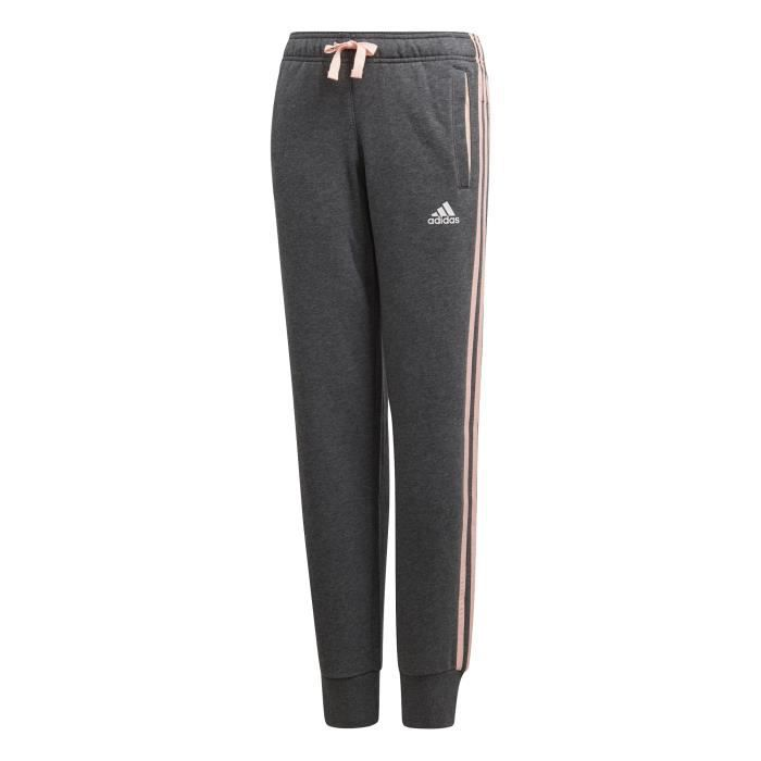 Pantalon junior femme adidas Essentials 3-Stripes Gris Gris foncé ... b39172f5e55