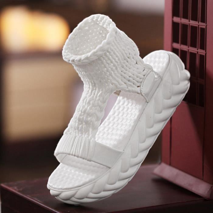sandales de chaussures d'été sur la plate-forme tongs gladiateur bas femmes chaussures