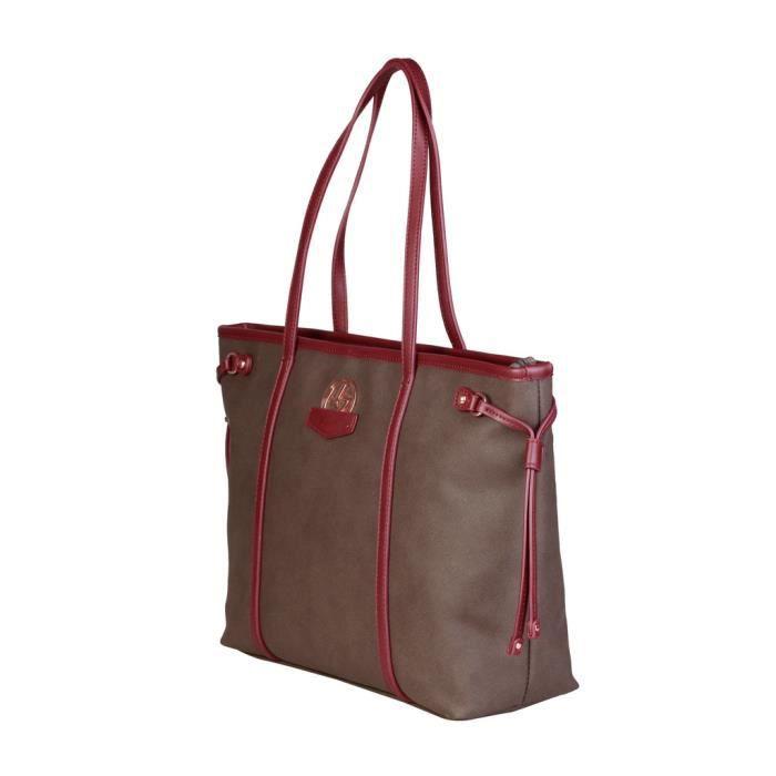 Byblos - Sac porté épaule pour femme (HILLARY_675737_033_TMORO) - Brun
