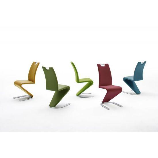 Vert Lot Pomme Piètement De 2 Design En Chaises Avec Polyester 5cjq34LAR